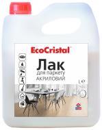 Лак для паркету EcoCristal ІР-18 ІРКОМ шовковистий мат 1 л прозорий