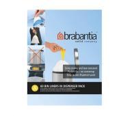 Мешки для мусора с затяжками Brabantia Bin Liners крепкие 3 л 60 шт.