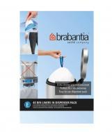 Мешки для мусора с затяжками Brabantia Bin Liners крепкие 20 л 40 шт. (в диспенсере)