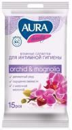 Вологі серветки Aura для інтимної гігієни 15 шт.