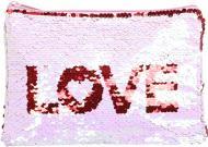 Пенал шкільний Паєтки кохання 21x15 см MF988928-2