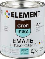 Емаль Element алкідна антикорозійна 3 в 1 Стоп іржа жовтий глянець 0,7кг