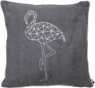 Подушка декоративна Фламінго 45x45 см сірий La Nuit