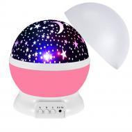 Ночник-проектор звездное небо Star Master Dream rotating projection Розовый (mkt1004i2506)