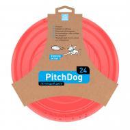Фризбі PitchDog для апортировки 24 см рожева
