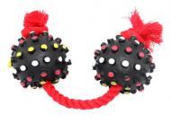 Іграшка для собак Zoomax Грейфер канат + 2 м'ячі міна 8x35 см EV088