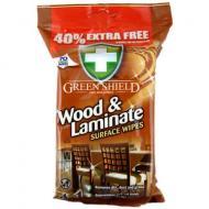 Green Shield Серветка для дерев'яних поверхонь і ламінату, Green Shield, 70шт