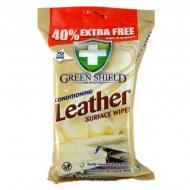 Вологі серветки Green Shield Leather Surface Wipes 70 шт.