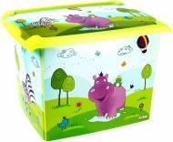 Ящик пластиковий OKT 2813 із кришкою Hippo 290x270x390 мм
