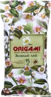 Вологі серветки Origami без спирту Зелений чай 15 шт.