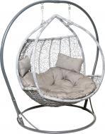 Крісло-кокон Українські конструкції Фортуна сірий з подушками