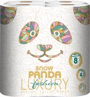 Туалетний папір Сніжна Панда LUXURY Fashion чотиришаровий 8 шт.