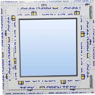 Вікно поворотне OpenTeck DE-LUX 60 500x500 мм праве