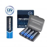 Аккумулятор TENAVOLTS Lithium 1,5 В в пластиковом боксе AA (R6, 316) 4 шт. (1134)