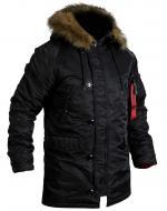 Куртка-парка Chameleon Аляска Slim Fit N-3B XL black