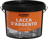 Лак Decor Lacca D'Argento Element Decor напівмат 3 л срібний