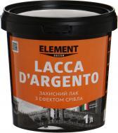 Лак Decor Lacca D'Argento Element Decor напівмат 1 л срібний
