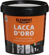 Лак Decor Lacca D'oro Element Decor оксамитовий мат 1 л прозорий золотий