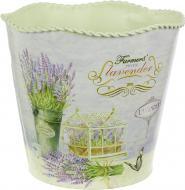Вазон декоративний Lavender циліндр металевий 15х13,5 см