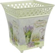 Вазон декоративний Lavender квадратний металевий 15х16 см
