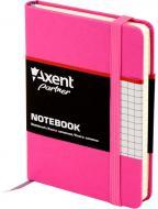 Книга для нотаток Partner, 95*140, 96арк, кліт, пурпурна Axent