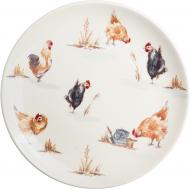 Тарілка десертна Пташина ферма 21 см Claytan Ceramics