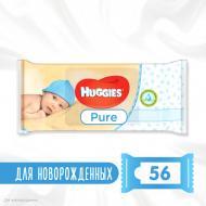 Вологі серветки Huggies Pure 56 шт.