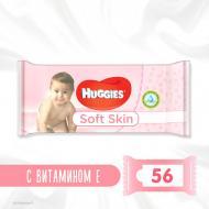 Дитячі вологі серветки Huggies Soft Skin 56 шт.