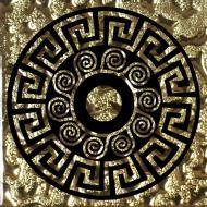 Плитка Grand Kerama Тако Греція золото рифлена 961 6,6x6,6