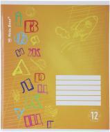 Зошит шкільний 12 аркушів коса лінія жовтий Nota Bene