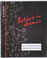Зошит шкільний 96 аркушів клітинка чорний Nota Bene