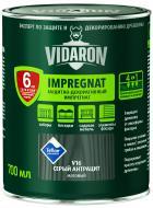 Импрегнат Vidaron Защитно-декоративный серый антрацит V16 мат 0,7 л