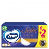 Салфетки гигиенические в коробке Zewa Softis Pocket 6+2 80 шт.
