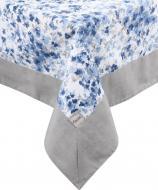 Скатертина з кантом Волошкові квіти 136x180 см білий із синім La Nuit
