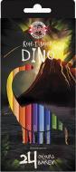 Олівці кольорові Dino 24 шт. 3594024007Ks Koh-i-Noor
