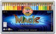 Карандаши цветные Magic 23 шт. + блендер Koh-i-Noor