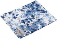 Серветка La Nuit Акварель Волошкові квіти 45x35 см білий із синім