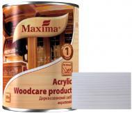 Декоративное и защитное средство для древесины Maxima акриловое белый глянец 0,75 л