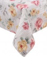 Скатертина Loft Бурштинові троянди 120x136 см рожево-бежевий La Nuit
