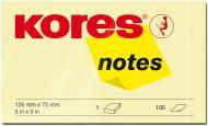 Папір для нотаток із липким шаром 125x75 мм 100 шт. світло-жовтий Kores