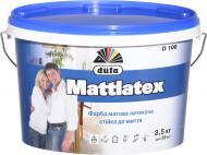 Краска латексная водоэмульсионная Dufa Mattlatex D100 мат белый 2,5л 3,5кг