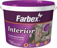 Краска акриловая водоэмульсионная Farbex Interior мат белый 7кг