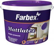 Краска латексная водоэмульсионная Farbex Mattlatex мат белый 1,4кг