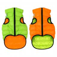 Куртка Airy Vest двостороння для собак XS 22 помаранчево-салатова