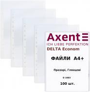 Файли Delta Економ D1003 А4+, прозорий, глянцевий, 100 шт. Axent