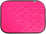 Підстилка Airy Vest для собак М 80х55 см рожево-чорна