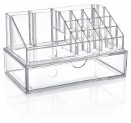 Органайзер BoxUp для косметики с ящиком 22,5x12,5x13,8 см пластик прозрачный FT-005