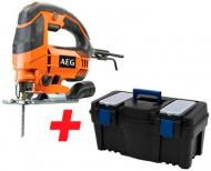 Електролобзик AEG STEP100+ящик для інструментів Calibe S