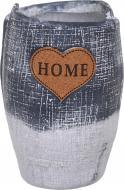 Кашпо керамическое Home in love 14х20,5 см серый