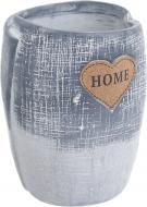 Кашпо керамическое Home in love 12,5х16,5 см серый